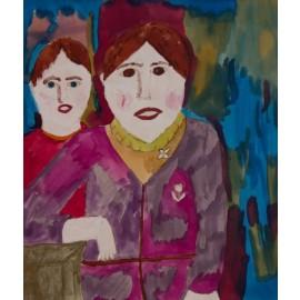 Vrouw met tulpcorsage - 5022