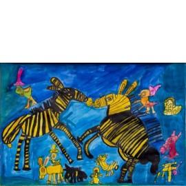 Springende zebra's - Tineke Vierhoven