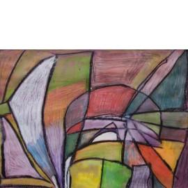 Abstract (Glas in lood) - Annette Koenderink