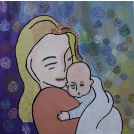 Moeder met kind - Monique van der Zalm