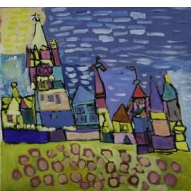 Huizen met wolken - Sharone Zandhuis