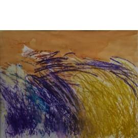Abstract (paars met oker) - Gerard Flinkers