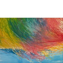Abstract (okerrood-lichtblauw) - foto 2078