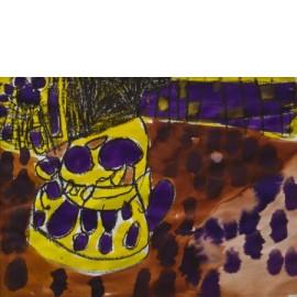 Abstract (paars met geel) - 9757