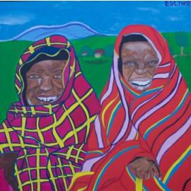 Masai-vrouwen - Esther van Goor