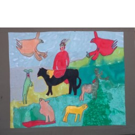 Dierenlandschap - Martha van der Veer