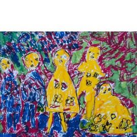 3 gele jurken - Ronnie Achterhuis