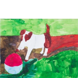 Hond met bal - Werner Bout