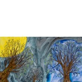 Bomen in volle maan - Christa Vriezema