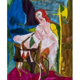 Vrouw met rood haar - Margöt van der Velde