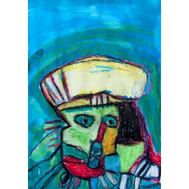 Abstract (gele pet) - Annette Koenderink