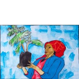 Vrouw met plant - 5018