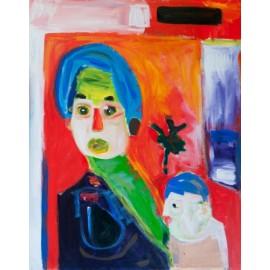 Vrouw met kind - Bertus Bruns