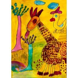 Giraffe in lente - Tineke Vierhoven
