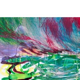Abstract (groen paars geel) - Gerard Flinkers