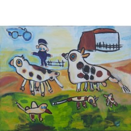Dieren op boerderij - Rini Olde Meierink