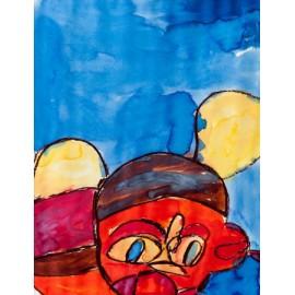 Abstract (oranje mens) - Annette Koenderink