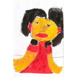 Rode jurk/rode lippen - 5020