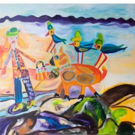 3 vogels op een poes - Tineke Vierhoven