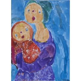 Moeder met kind - Ronnie Achterhuis