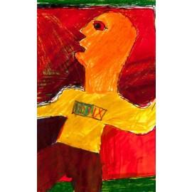 Oranje hoofd - Bertus Bruns