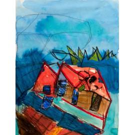 Abstract (huis in het bos) - Annette Koenderink