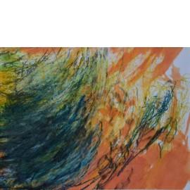 Abstract (Blauw zwart oranje wit) - Gerard Flinkers