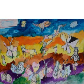 Blije vlinder - Trudy Voerman