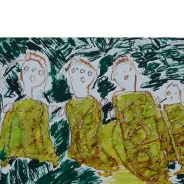Groene zangeressen - 4953