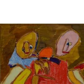 Abstract (twee gezichten) - Annette Koenderink