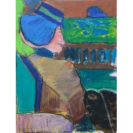 Blauw hoedje - Bertus Bruns