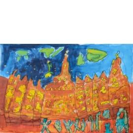 Brandende stad - 5004