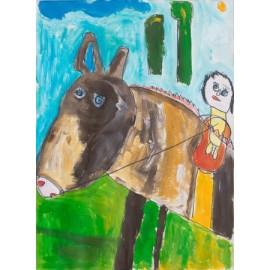 Paard ruiter - Rini Olde Meierink