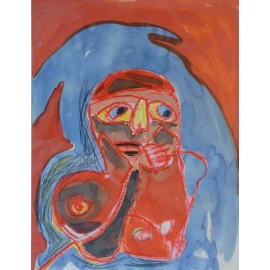 Abstract (vrouw met borst) - Annette Koenderink