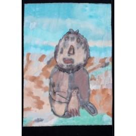Leeuw met poesjes - Martha van der Veer