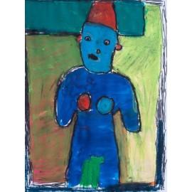 Blauwe man met borsten - Bertus Bruns