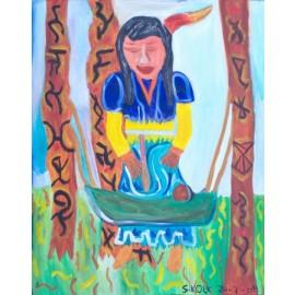 Indianenvrouw - Sandra Kolk