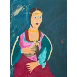Vrouw met fret - Sandra Kolk