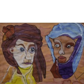 Twee dames - Margöt van der Velde