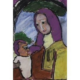 Vrouw met baby - Bertus Bruns