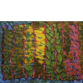 Abstract (cyclaam/groen/oker/bruin) - 4986