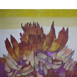 Dahlia oranje / rood - 5043