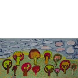Bomen (vaandel) - Yvonne Volkerink