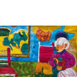 Vrouw met fruitschaal - 9762