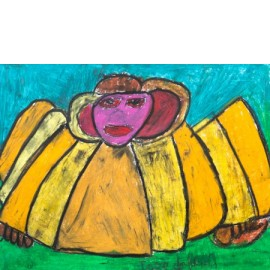 Engel met gele vleugels - 5020
