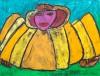 Engel met gele vleugels - foto 2723