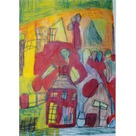 Abstract (huizen) - Annette Koenderink