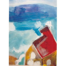 Abstract (huis in de wolken) - Annette Koenderink