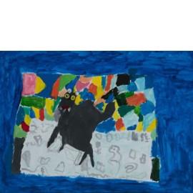 Zwarte kat - 5004