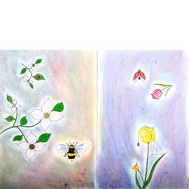 Bloemetjes en bijtjes (2 luik) - Christa Vriezema